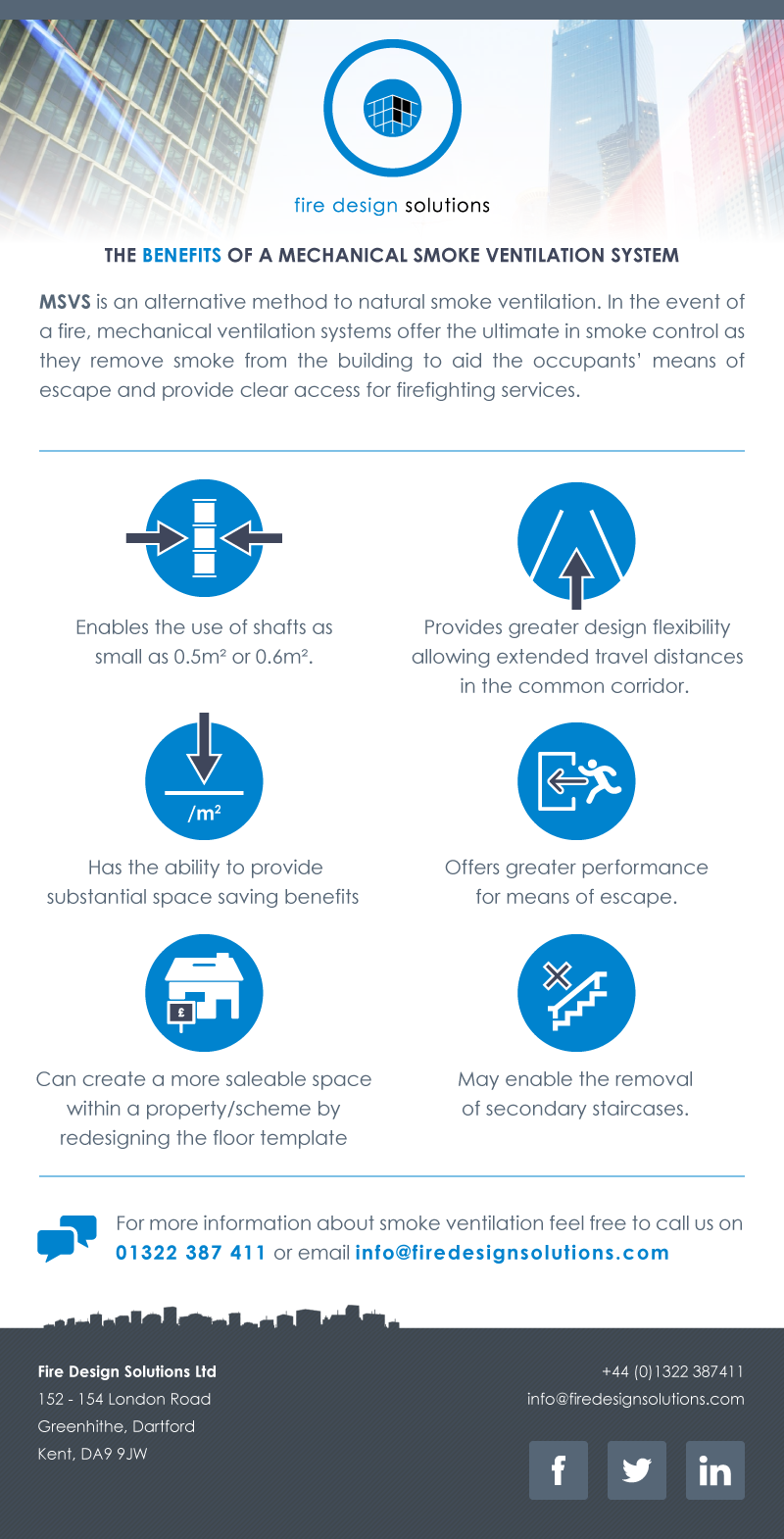 Infographic : Mechanical Smoke Ventilation System benefits