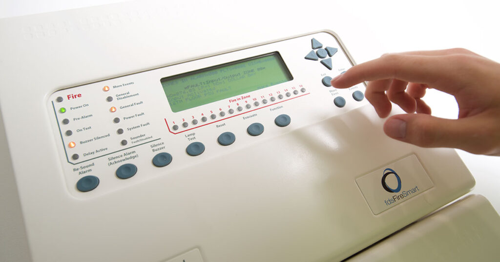 FireSmart control panel in use